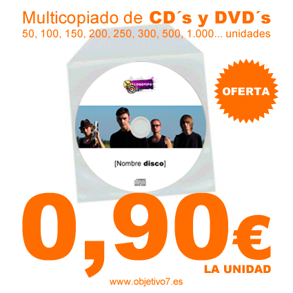 Oferta multicopiado CD´s y DVD´s
